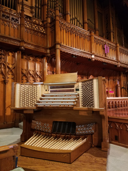 Allen Organ installed at Thrid Presbyterian Church Pittsburgh PA